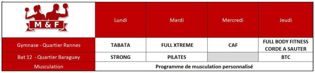 Programme MuscuFitness 2020-2021